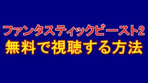 ファンタビ(2)黒い魔法使いの誕生字幕吹き替えの動画フルを実質無料で視聴する方法!見れる動画配信サービス
